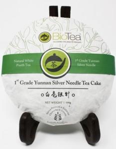 1st Grade Yunnan Silver Needle White Puerh Tea Cake 2